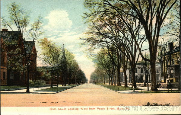 Sixth Street Looking West from Peach Street Erie Pennsylvania