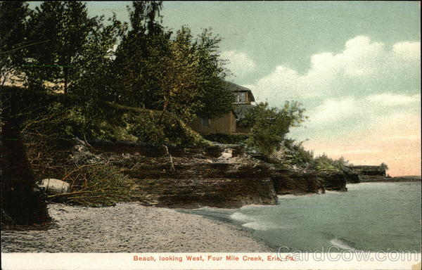 Beach Looking West, Four Mile Creek Erie Pennsylvania