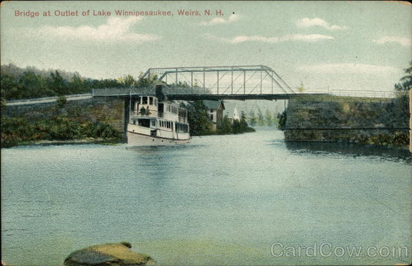 Bridge at Outlet of Lake Winnipesaukee Weirs Beach New Hampshire