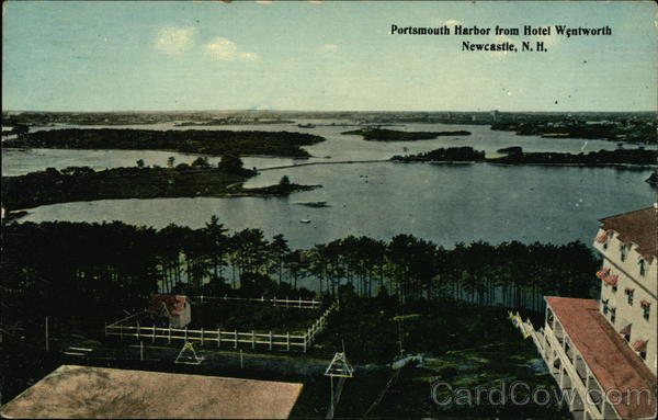 Portsmouth Harbor from Hotel Wentworth New Castle New Hampshire
