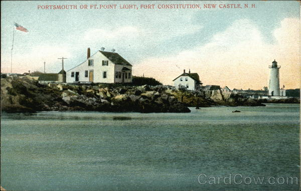 Portsmouth or Ft. Point Light, Fort Constitution New Castle New Hampshire