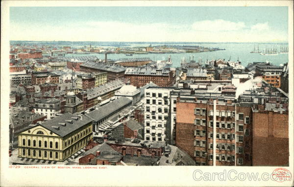 View of City Looking East Boston Massachusetts
