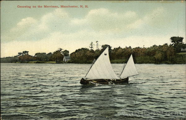Canoeing on the Merrimac Manchester New Hampshire