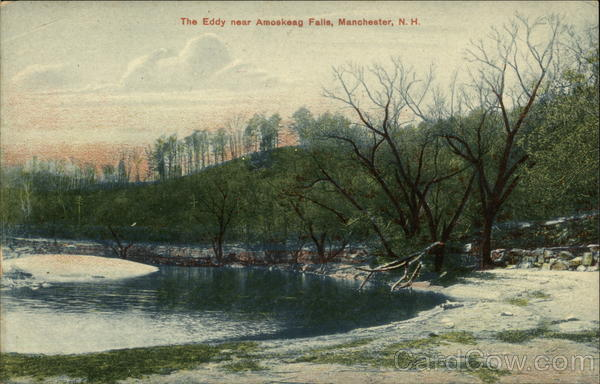 The Eddy near Amoskeag Falls Manchester New Hampshire