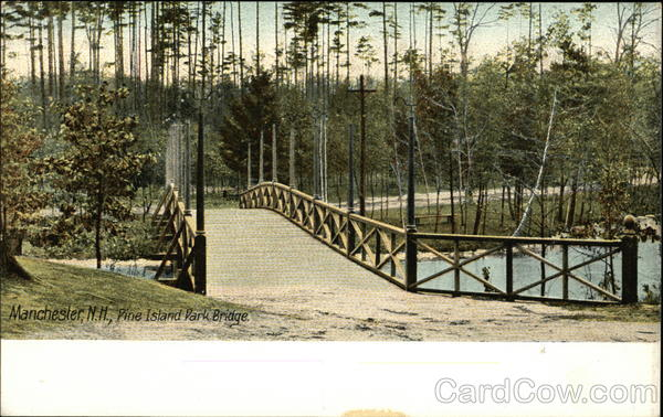Pine Island Park Bridge Manchester New Hampshire