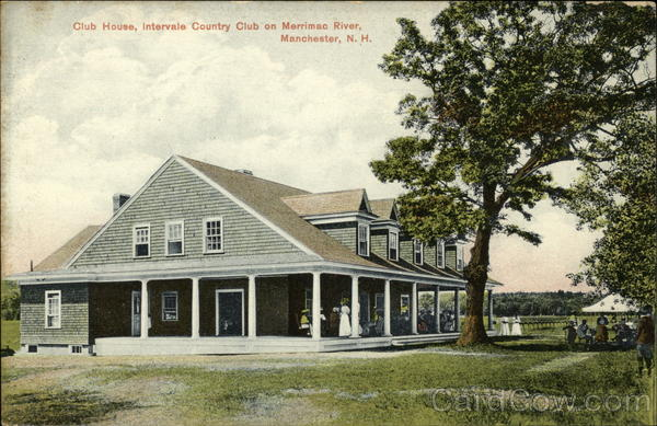 Club House, Intervale Country Club on Merrimac River Manchester New Hampshire