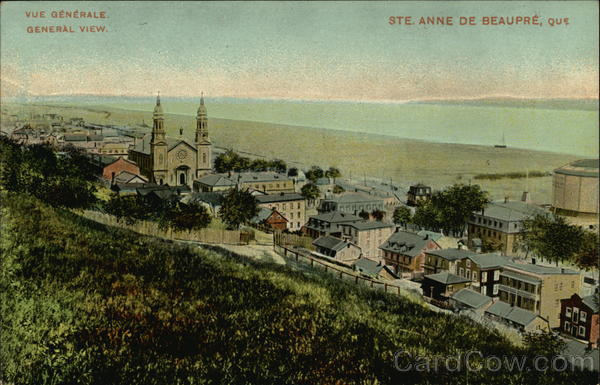 View of Town Ste. Anne de Beaupre Canada Quebec