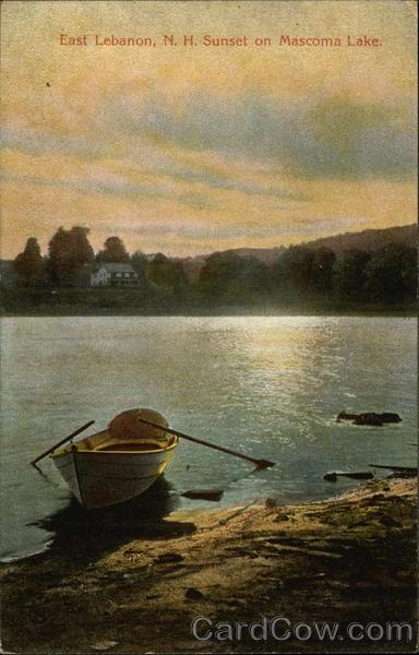 Sunset on Mascoma Lake East Lebanon New Hampshire