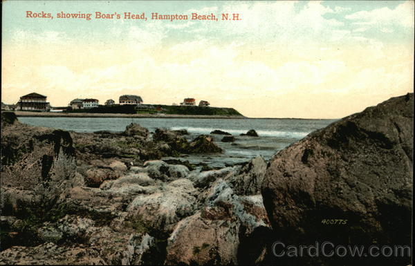 Rocks, Showing Boar's Head Hampton Beach New Hampshire