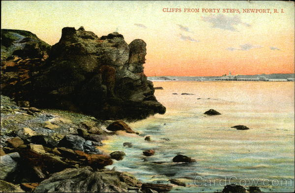 Cliffs from Forty Steps Newport Rhode Island
