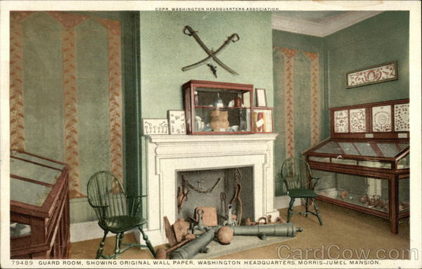 Guard Room, Showing Original Wall Paper, Washington Headquarters, Morris-Jumel Mansion New York City