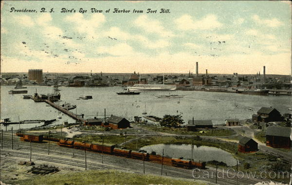 Bird's Eye View of Harbor fro Fort Hill Providence Rhode Island