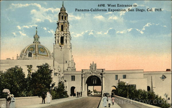 West Entrance to Panama-California Exposition San Diego