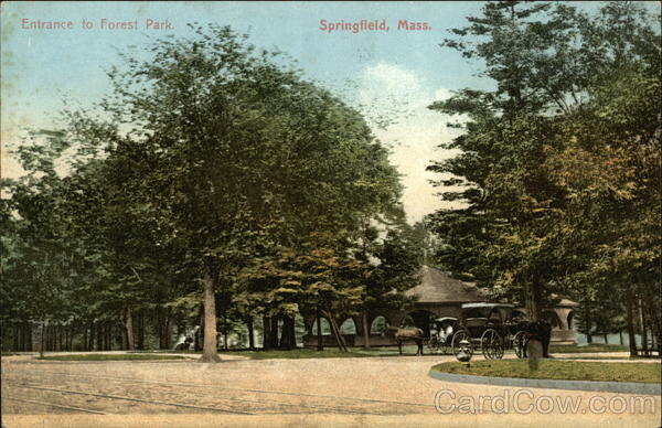 Entrance to Forest Park Springfield Massachusetts