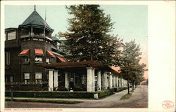 Grill Club and Colonnade Postcard