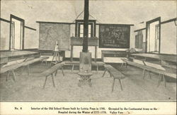 Interior of the Old School House Postcard