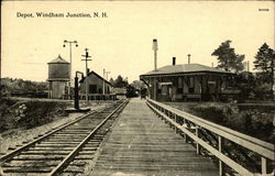 Depot, Windham Junction Postcard