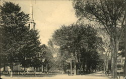 Great Plain Avenue & Baptist Church Postcard