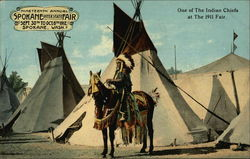 One of the Indian Chiefs at The 1911 Fair Postcard
