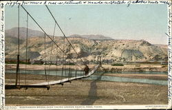 suspensio Bridge over the Rio Grande Postcard