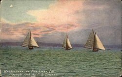Yacht Race on Fox Lake, Ill Postcard