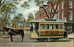 Rapid Transit in 1877 - First Horse Car run in Manchester