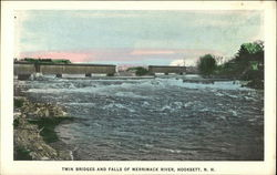 Twin Bridges and Falls of Merrimack River