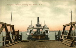 Ferryboat Bristol Entering Slip