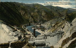 The Great Arrowrock Dam in Construction