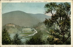On the New York Central Lines, View from Peekskill Camp, Looking up River