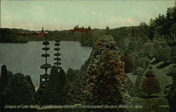 Lake Waban and Wellesley College from Hunnewell Gardens