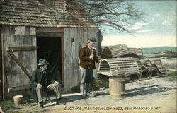 Making Lobster Traps, New Meadows River