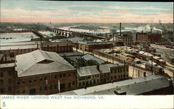 James River Looking West from Richmond, Va Postcard