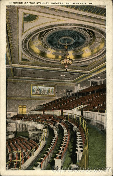 Interior of the Stanley Theatre Philadelphia Pennsylvania