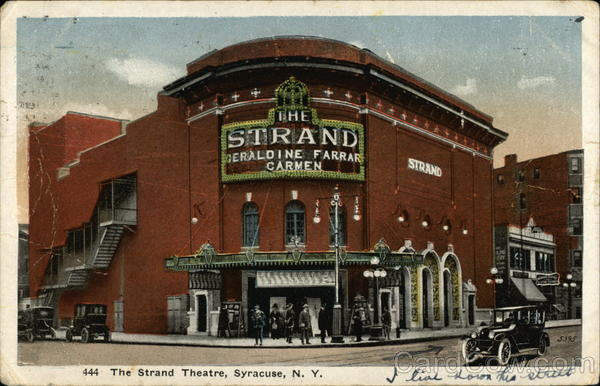 The STrand Theatre Syracuse New York
