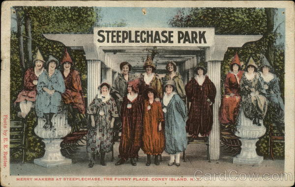 Merry Makers at Steeplechase, The Funny Place Coney Island New York