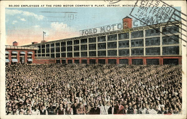 50 000 employees at the ford motor company 39 s plant detroit mi for Ford motor company employee login