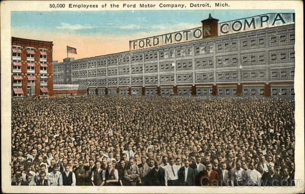 50,000 Employees of the Fort Motor Company Detroit Michigan