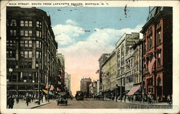 Main Street, South from Lafayette Square Buffalo New York