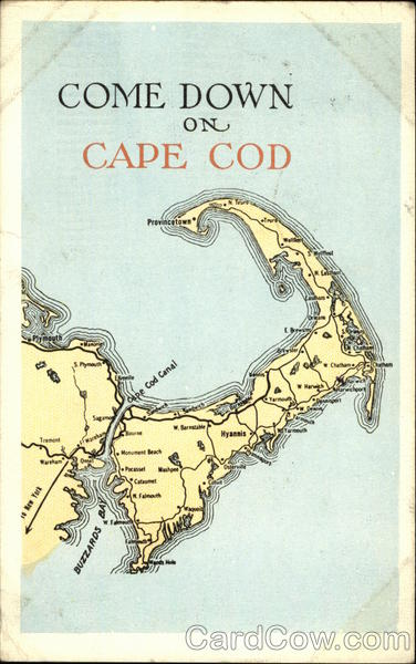 Come Down on Cape Cod Massachusetts Maps