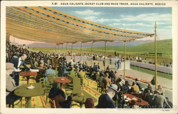 Agua Caliente Jockey Club and Race Track Mexico Horse Racing