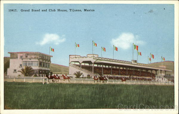 Grand Stand and Club House Tijuana Mexico Horse Racing