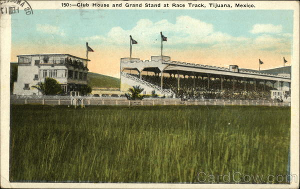 Club House and Grand Stand at Race Track Tijuana Mexico