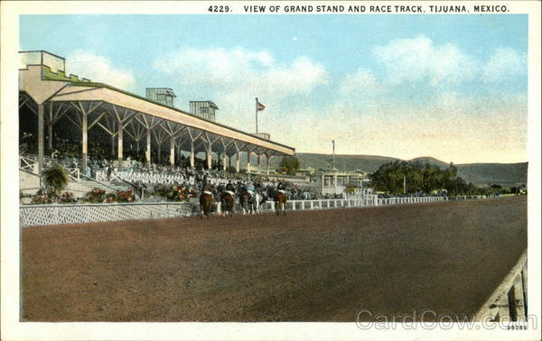Grand Stand and Race Track Tijuana Mexico Horse Racing