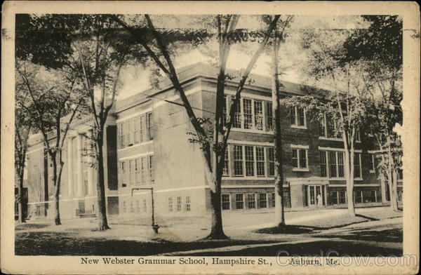 New Webster Grammar School on Hampshire St Auburn Maine
