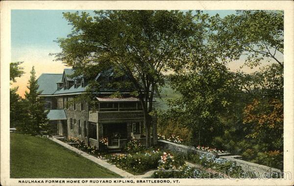 Brattleboro, Vermont VT ~ Home of Rudyard Kipling 1948