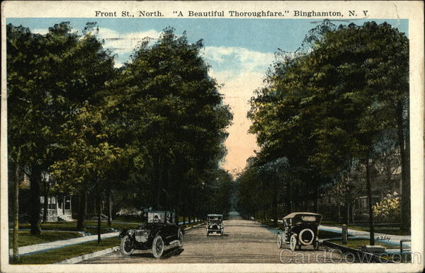 Front Street, North - A Beautiful Thoroughfare Binghamton New York