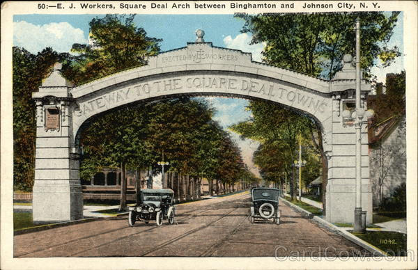 E.J. Square Deal Arch between Johnson City and Endicott