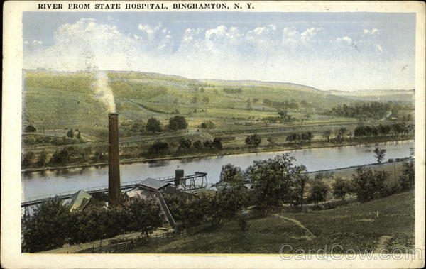 River from State Hospital Binghamton New York