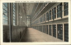 Section of New Cell Block, State Prison